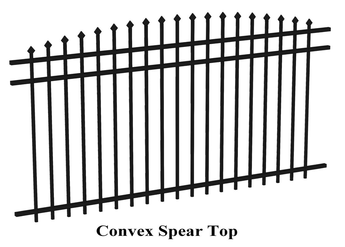 2400mm width  Crimped spear metal garrison fence supplier supplier