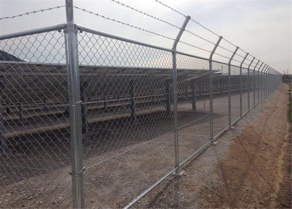 Galvanized Chain Link Fence Diamond Wire Mesh Pvc Coated