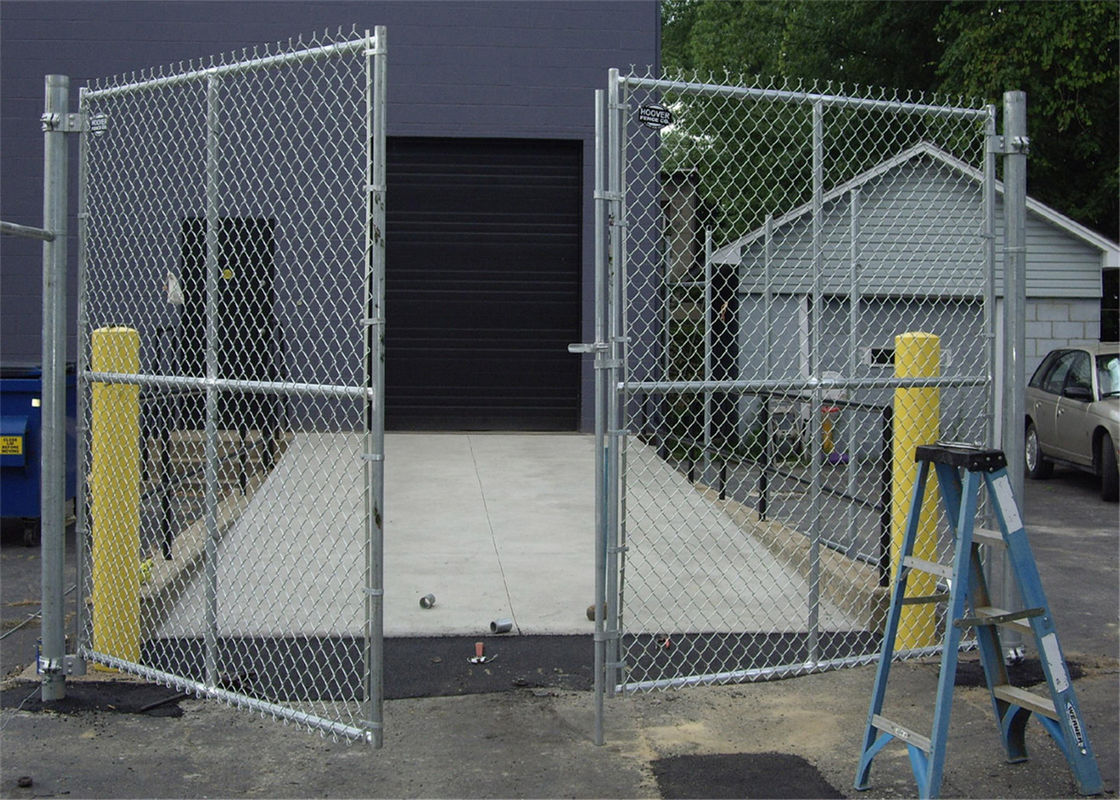 Home garden hot dipped galvanized chain link fence , pvc coated chain link fence supplier