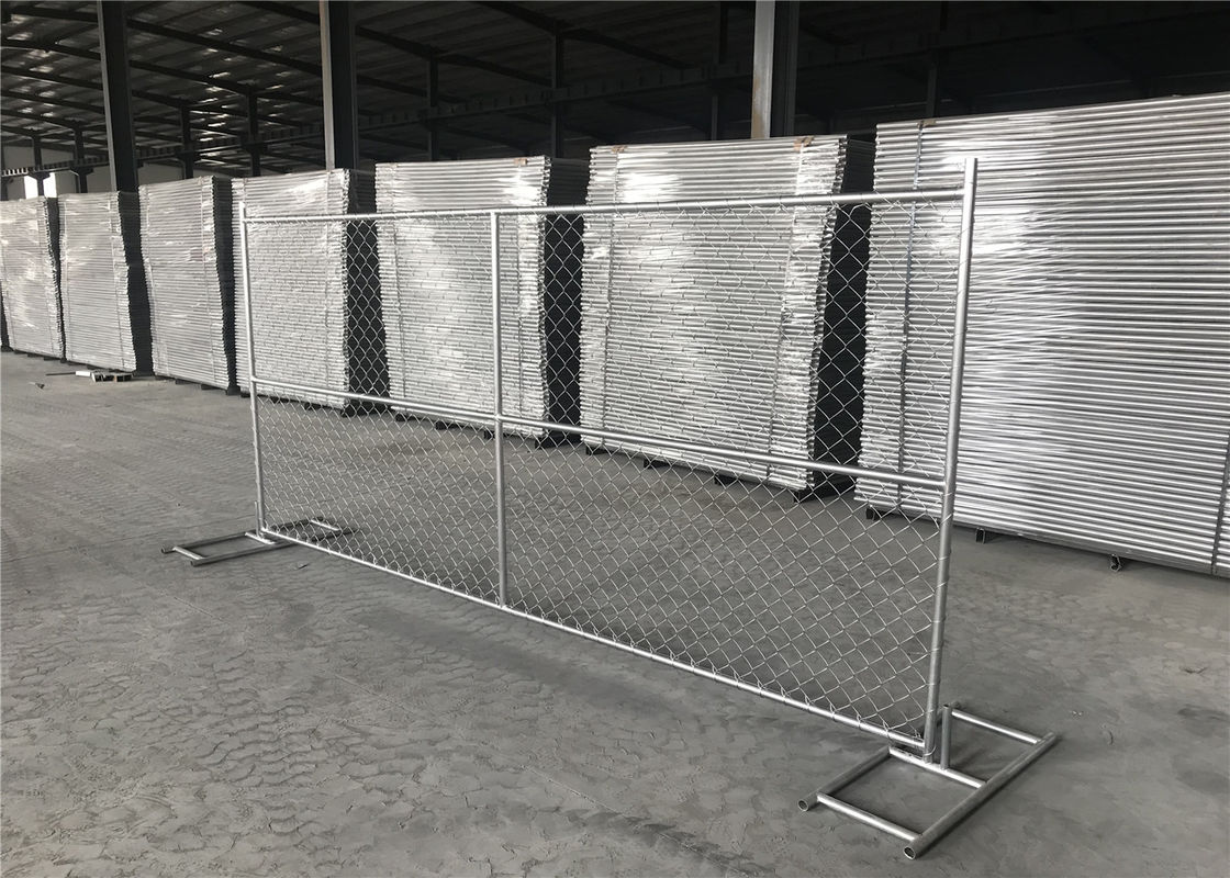"6X12 temporary chain link fence panels tube 1⅝""(42mm) x14ga 2.0mm mesh 60.3mmx60.3mm supplier"
