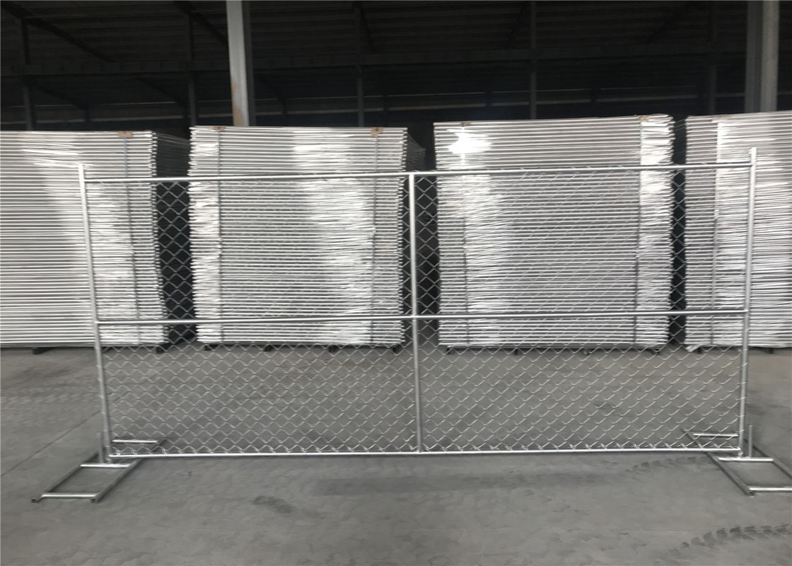 6x12 portable chain link fence tubing 42mmx16ga 1.6 thick cross brace hdg 366gram/SQM supplier