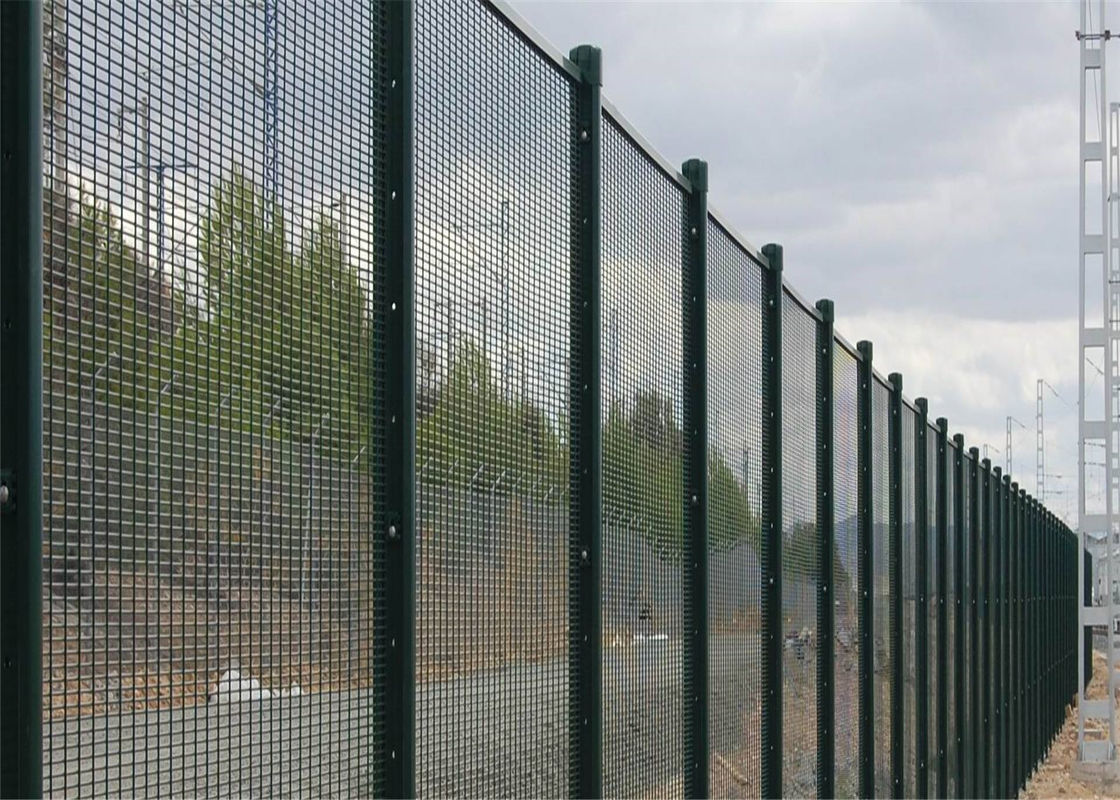 Mesh security fencing anti climb cut fence