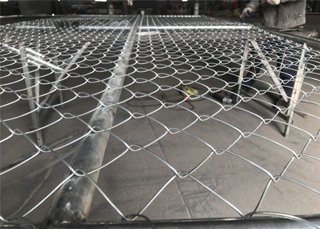 "6'x12' temporary construction fence panels  1⅗""(40mm) *15ga thick /1.8mm wall HDG 366gram/SQM supplier"