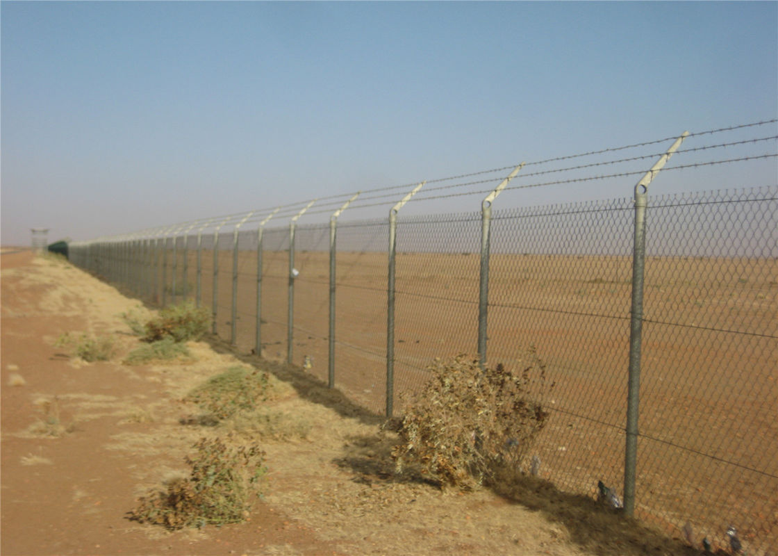 Chain link wire mesh fence 2m x 15m per roll mesh :50mm x 50mm PVC Coated Hot Dipped Galvanized supplier