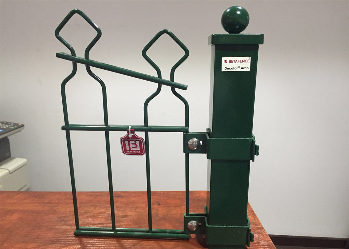 Double Horizontal Wire Welded Arched Mesh Fence,hot Dipped ...