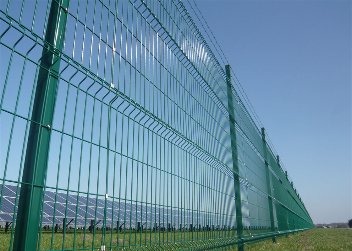 Wire Mesh Fence Panels Coated Blue and Dark Green With Powder Coated ...