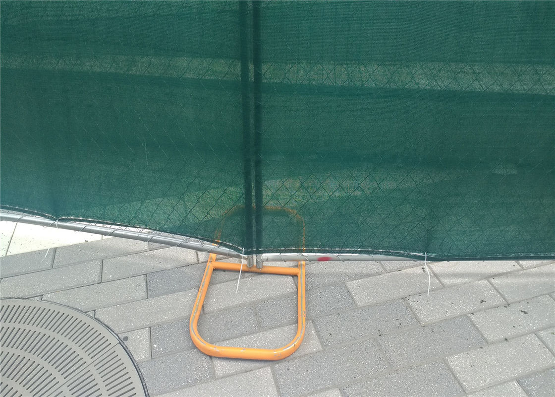 "temporary chain link fence panels 6'x12' mesh 60mm x 60mm tube 1.25""  16ga wall thick supplier"