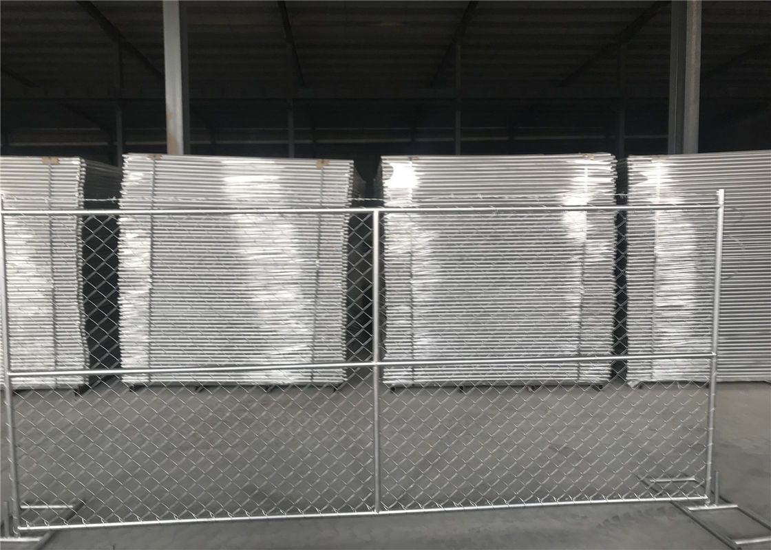 "8'x14' chain link fence panels 1⅜""(35mm) and 16gague wall thickness cross brace hot dipped galvanized be 2.0 oz/ft2 supplier"