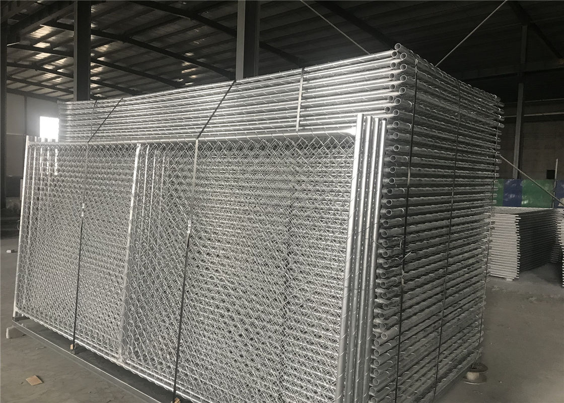 "8'X14' temporary construction fence mesh 2½""x2½""(63mmx63mm) and tube 1¼""(32mm) 1⅜""(35mm) 1½""(38mm) wall thick 17ga supplier"