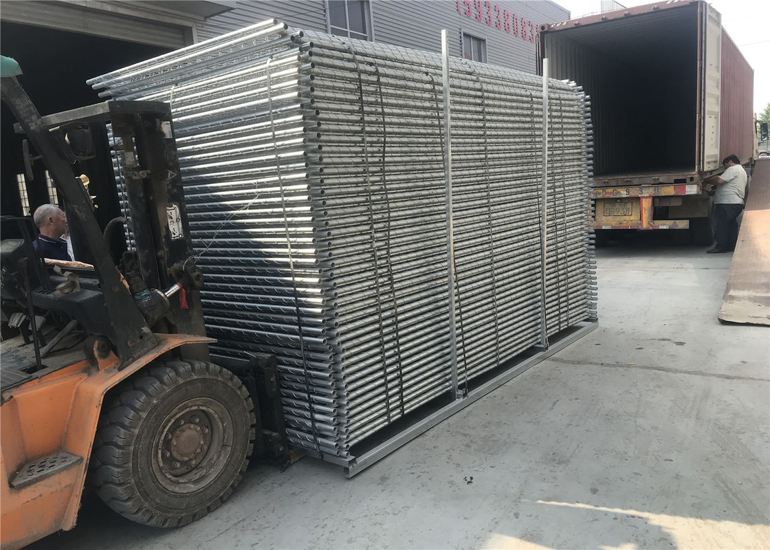 Temporary Security Construction Fencing Panels 1.83mx3.65m Mesh 57mmx57mm Diameter3.2mm/10Ga supplier