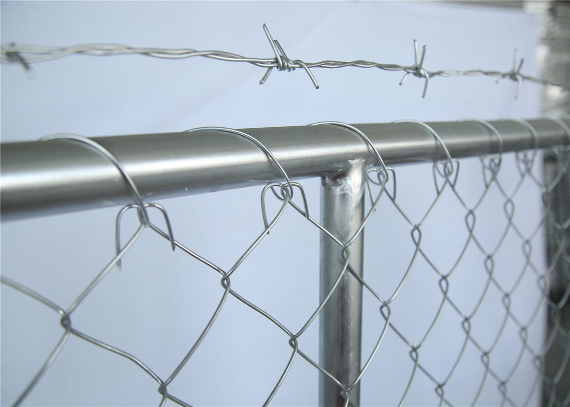 chain mesh temporary construction fence 8ft x 12ft  mesh 2-3/8 inch mesh opening x 11.5 gauge wire supplier