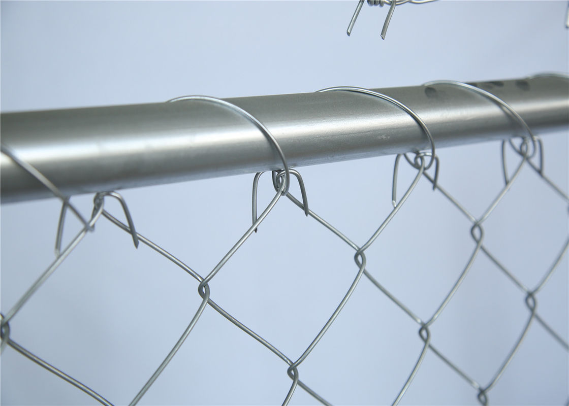 Cross Brace Chain link Construction Fencing Panels OD 41.20mm Wall thick 1.5mm 6'x12' Mesh 57mm x 57mm Diameter 2.2mm supplier