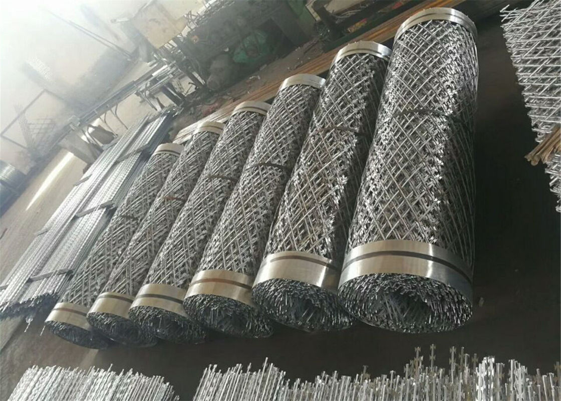Galvanized Powder Coated 2.4m high Welded Ripper Razor Mesh Fence