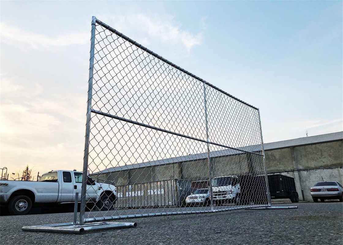 6'x12'  New Cyclone Chain Link Temporary Fence Panels  Mesh 57mm x 57mm Diameter 2.70mm supplier