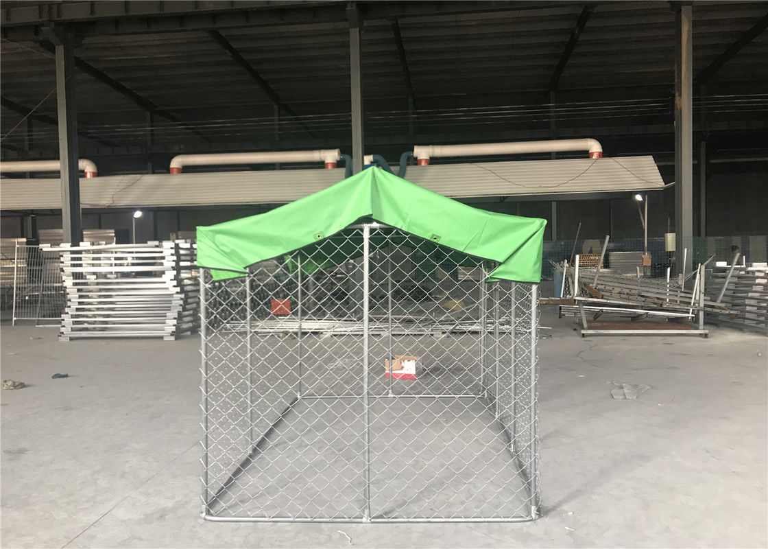 Large outdoor galvanized cheap chain link dog kennel 7.5x13x6ft(2.3x4x1.8m) 2.3mm wire diameter