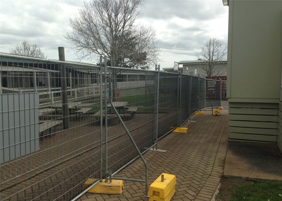2.1mx2.4m 40mm  tube x 1.5mm temp construction temporary fence panels hot dipped galvanized to be 42 microns supplier