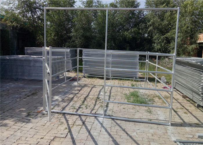 Sheep farm gate fence 40*80mm Oval rail 1.3m tall goat panel 6 bar cattle yard hot dipped galvanized supplier