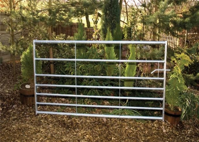 HDG Farm Gate 32*1.6mm round pipe 12x4ft size horse corral fence farm gate fence for the USA supplier