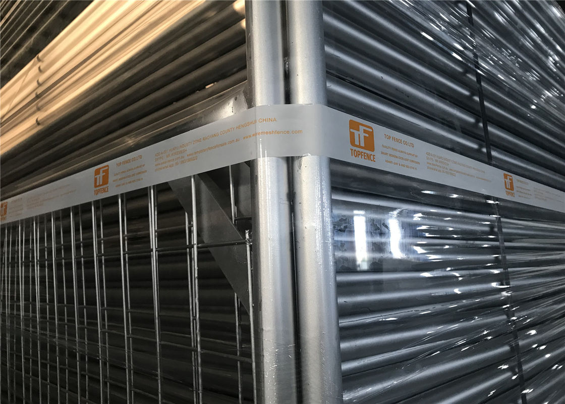 Temporary Construction Fencing Panels OD 32mm wall thick 1.8mm Max Construction Fence 50mm*150mm supplier