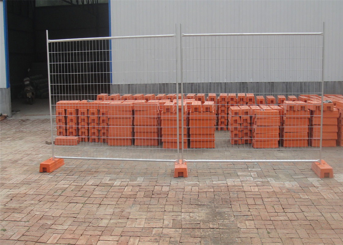 Construction Portable Fencing Panels OD 32mm x 1.2mm Mesh 60mm x 150mm Diameter 3.5mm supplier