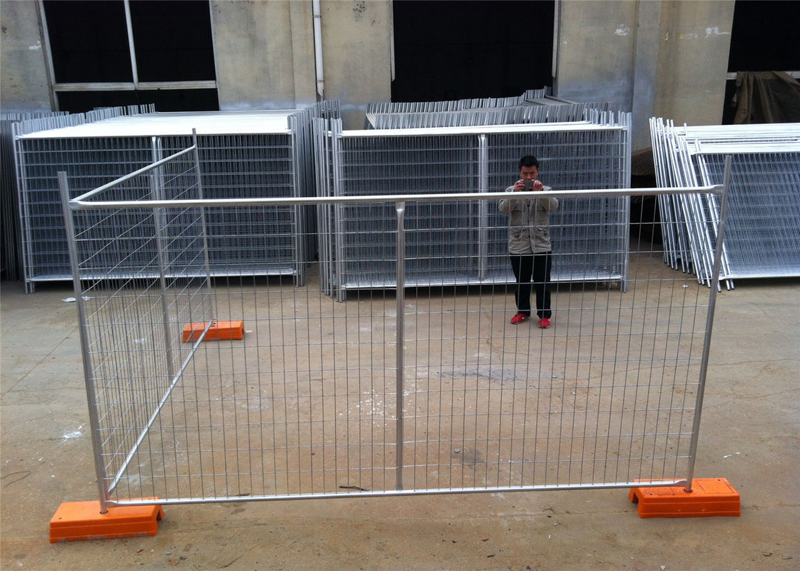 Temporary Construction Fencing New Zealand 2.1m x 2.4m OD 40mm wall thick 1.60mm supplier