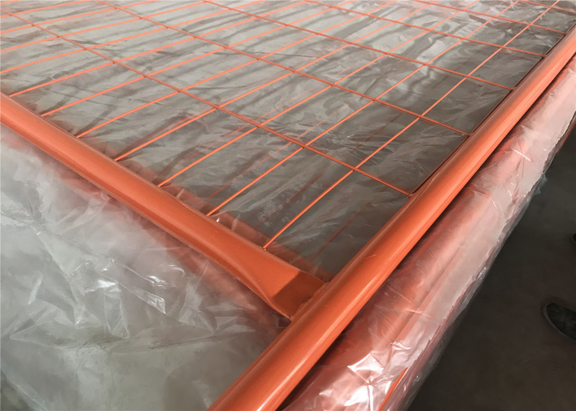 High visibility Orange Color Temporary Fencing Panels 2.1mx2.5m super panels OD 32mm and 40mm tube supplier