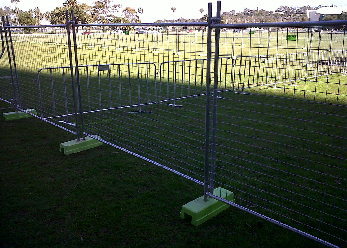 High Zinc Coated 42 microns Temporary Fencing Panels OD 32mm x 2.00mm Mesh 60mm x 150mm 3.8mm diameter AS4687-2007 supplier