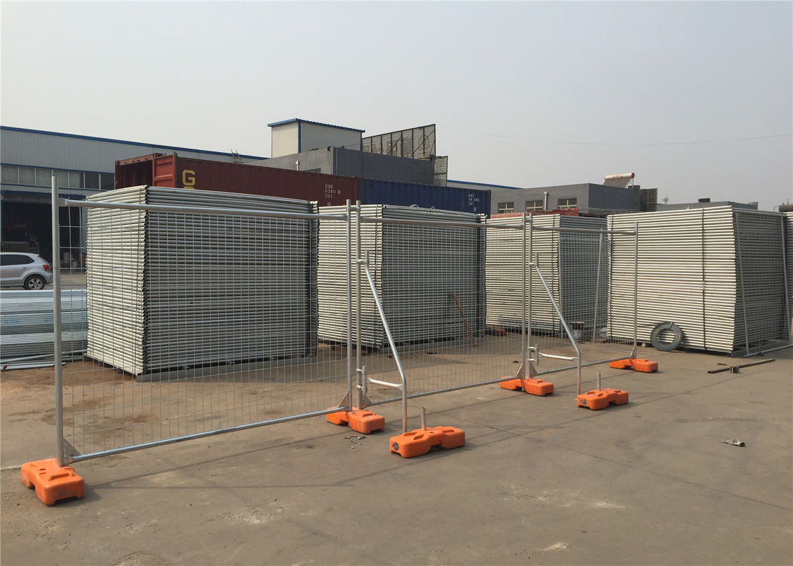Construction Temporary Fencing Panels Auckland HDG 42 microns 2.1m*2.4m Width OD 40mm supplier