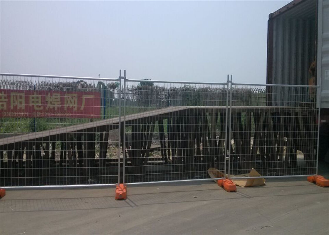 OD 40mm*2.00mm wall thick NZ Nelson Port Temporary Fencing Panels 2.1m x 2.4m Mesh 60mm*150mm Diameter 4.00mm supplier