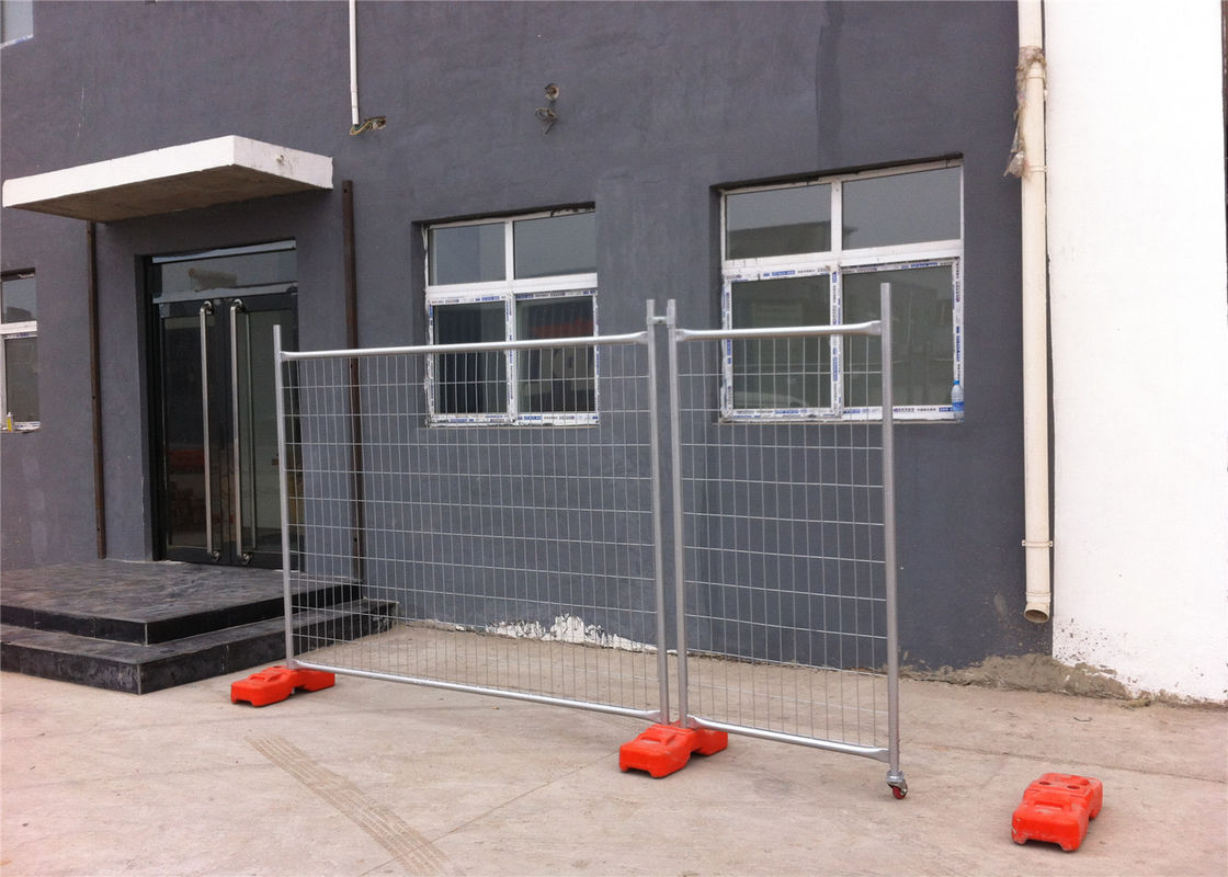 Hot Dipped Galvanized Temporary Fencing Panels 32mm tube wall thick 2.00mm inside and outside zinc coated supplier