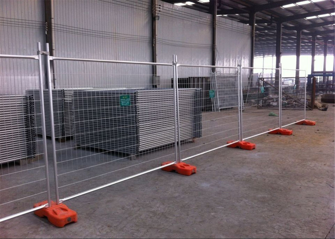 Rental Temporary Fence Panels Portable Construction Site Fence Panels 2.1mx2.4m OD 32mm Wall thick 1.60mm supplier