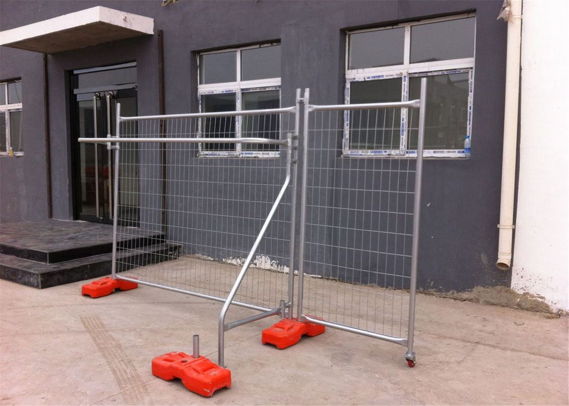 OD40mm temporary fencing panels 2.1mx2.4m AS4687-2007 Mesh 60mm*150mm*2.5mm wire diameter supplier
