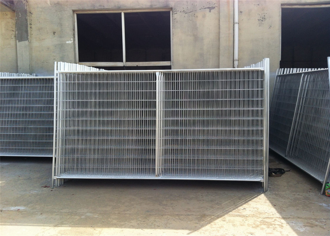 2100mm x 3500mm temporary fencing design bottom foot 400mm under concrete temporary construction fence supplier