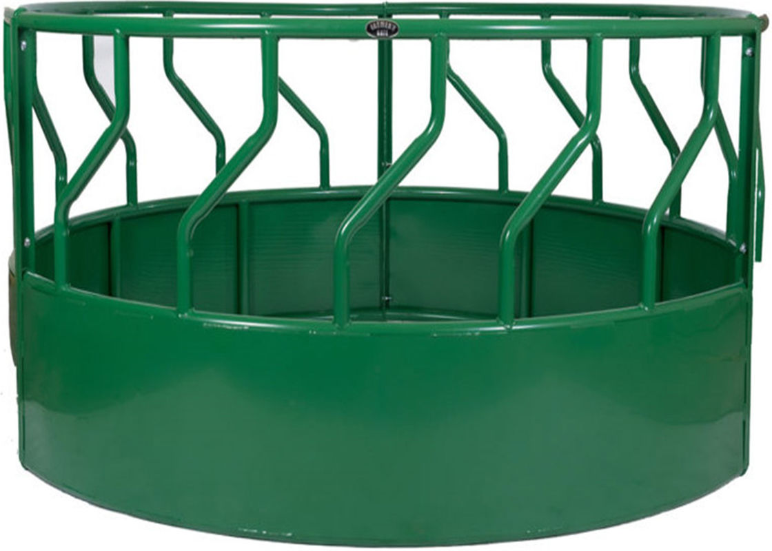 HEAVY BOTTOM  CLOSED ROUND BALE FEEDER Powder Coated RAL 6005 supplier