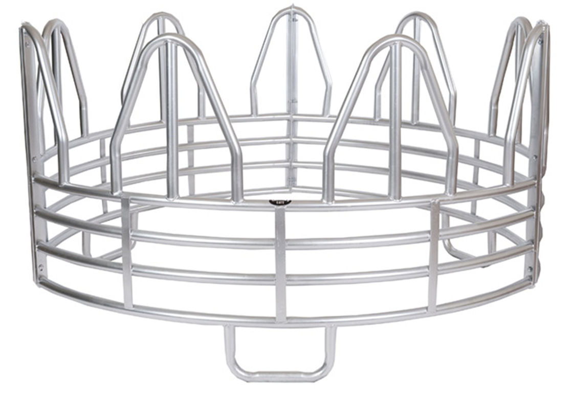 SUPER DUTY 4-RING HORSE GALVANIZED ROUND BALE FEEDER supplier