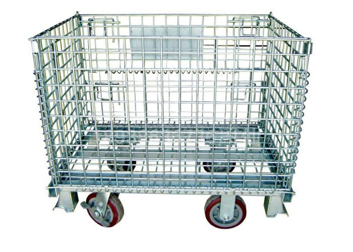 Warehouse Storage Collapsible Hanging- type Wire Mesh Container supplier