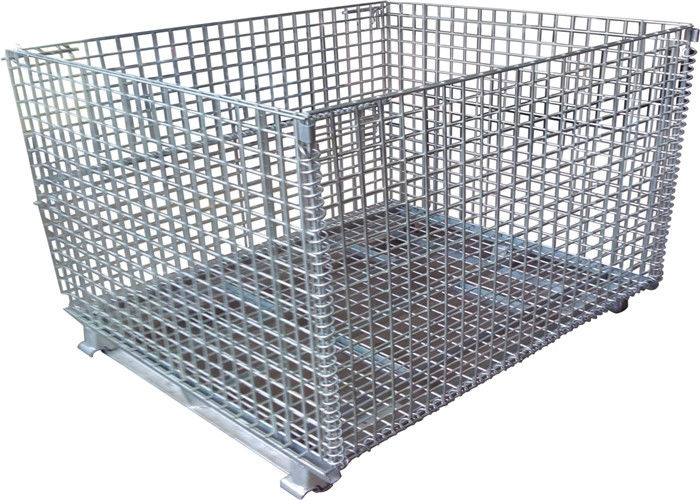 Color Storage Rack Container Metal Wire Mesh Container supplier