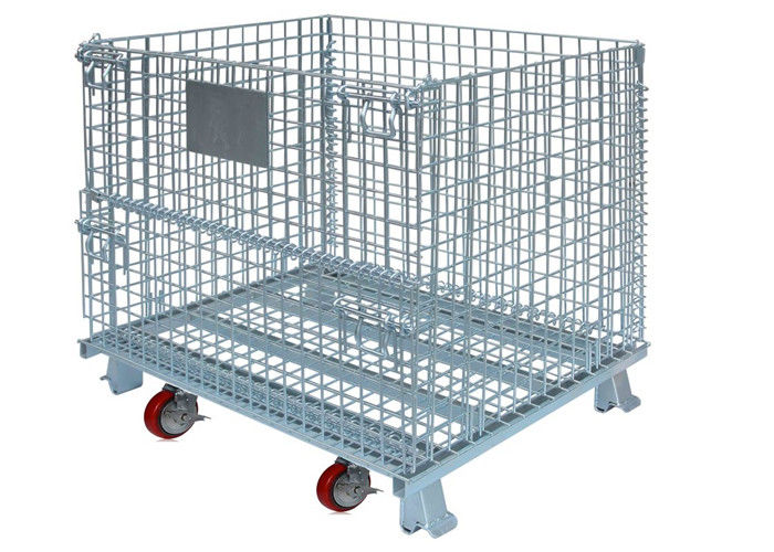 Widely Use in warehouse and factory storage stackable foldable wire containers supplier
