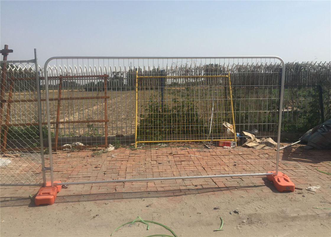 Hot Dipped Galvanized Temporary Fence 2m x 3m Mesh 50mm*100mm diameter 3.00mm supplier