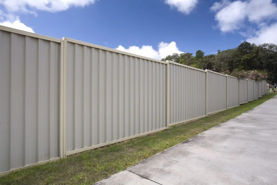 Colour Bond Steel Fence