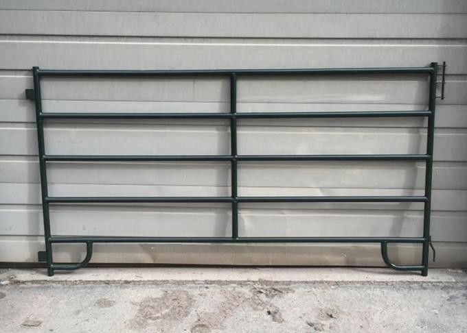 Flat Bar Horse Corral Panels Powder Coated Metal Livestock Corral supplier