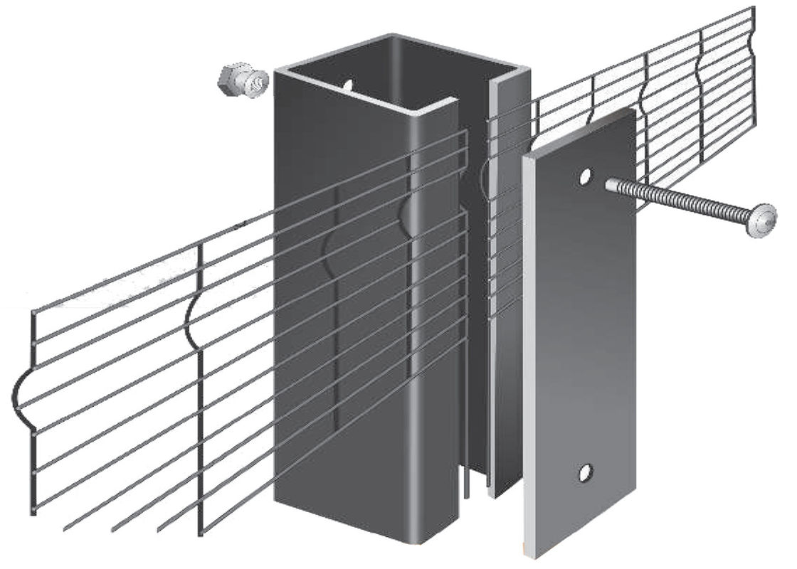 Clearvu Portable No Climb Security Fence Construction Hoarding Finger Proof Wire supplier