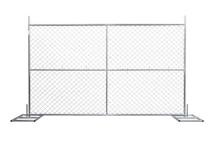 Temporary chain link fence 6'x12' Cold Zinc Painted at All welds supplier