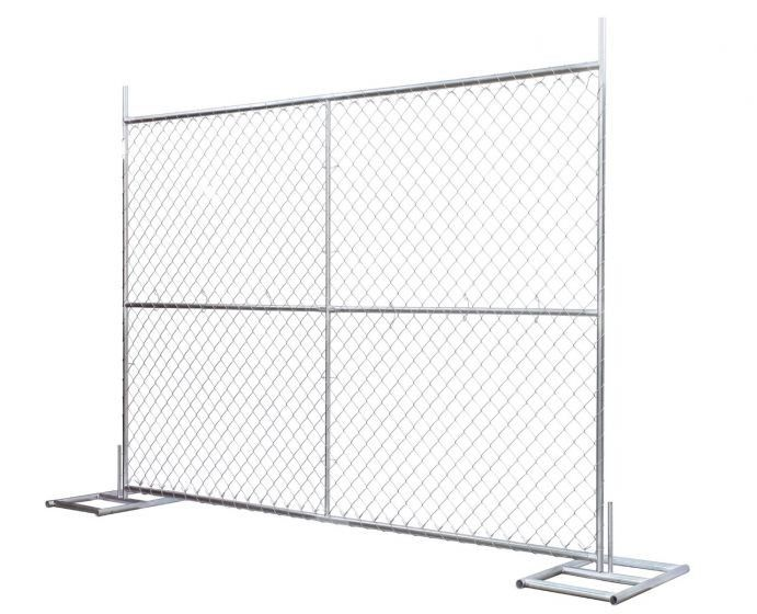 Construction Chain Link Fence Panels ASTM 396 standard Hot dipped Galvanized and Pregalvanized
