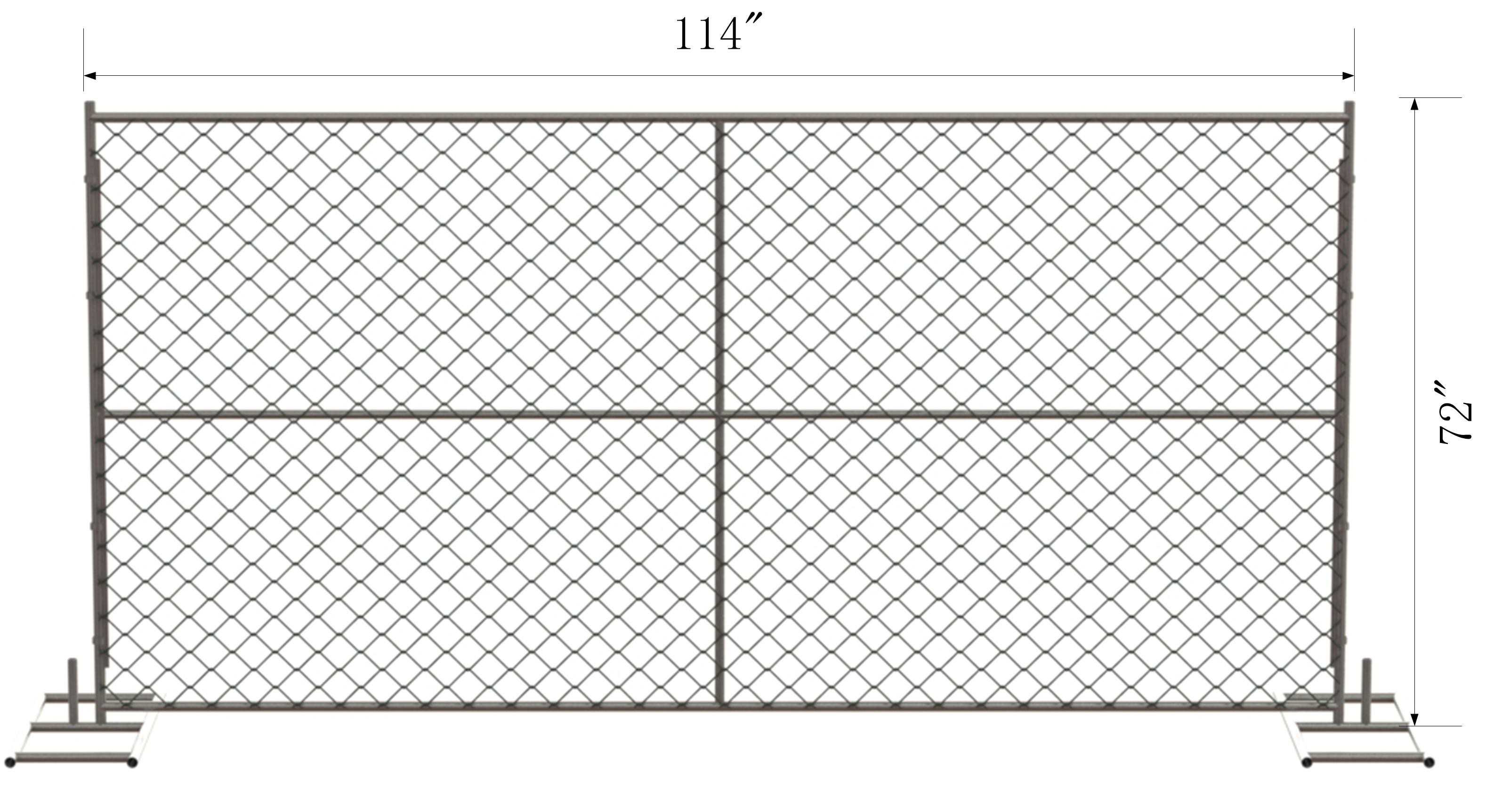 6 x 10 chain link temporary fence panels mesh 2 5 8 x 2 5 8 x