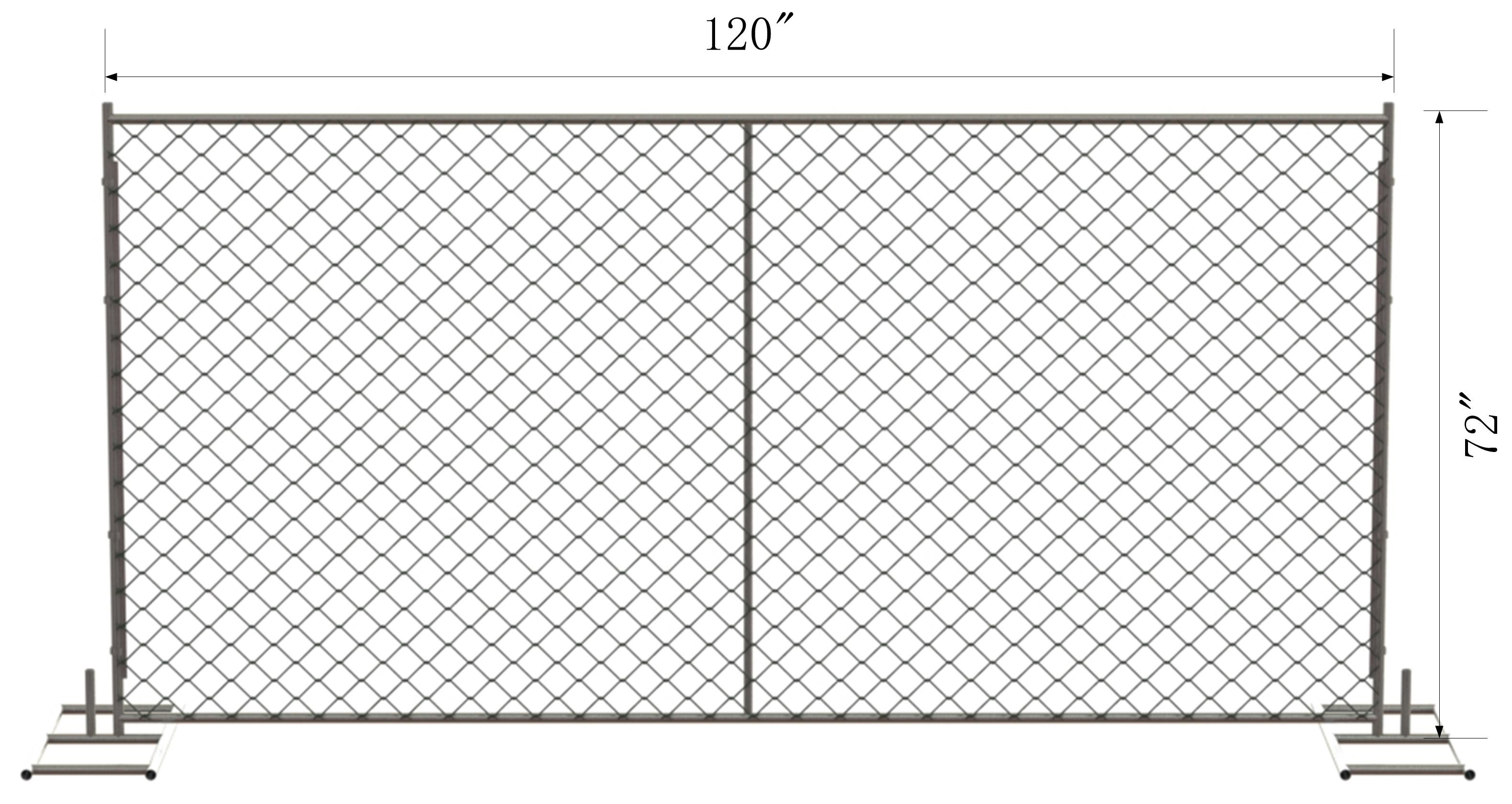 6 X 10 Chain Link Temporary Fence Panels Mesh2 ⅝ Quot X 2 5 8