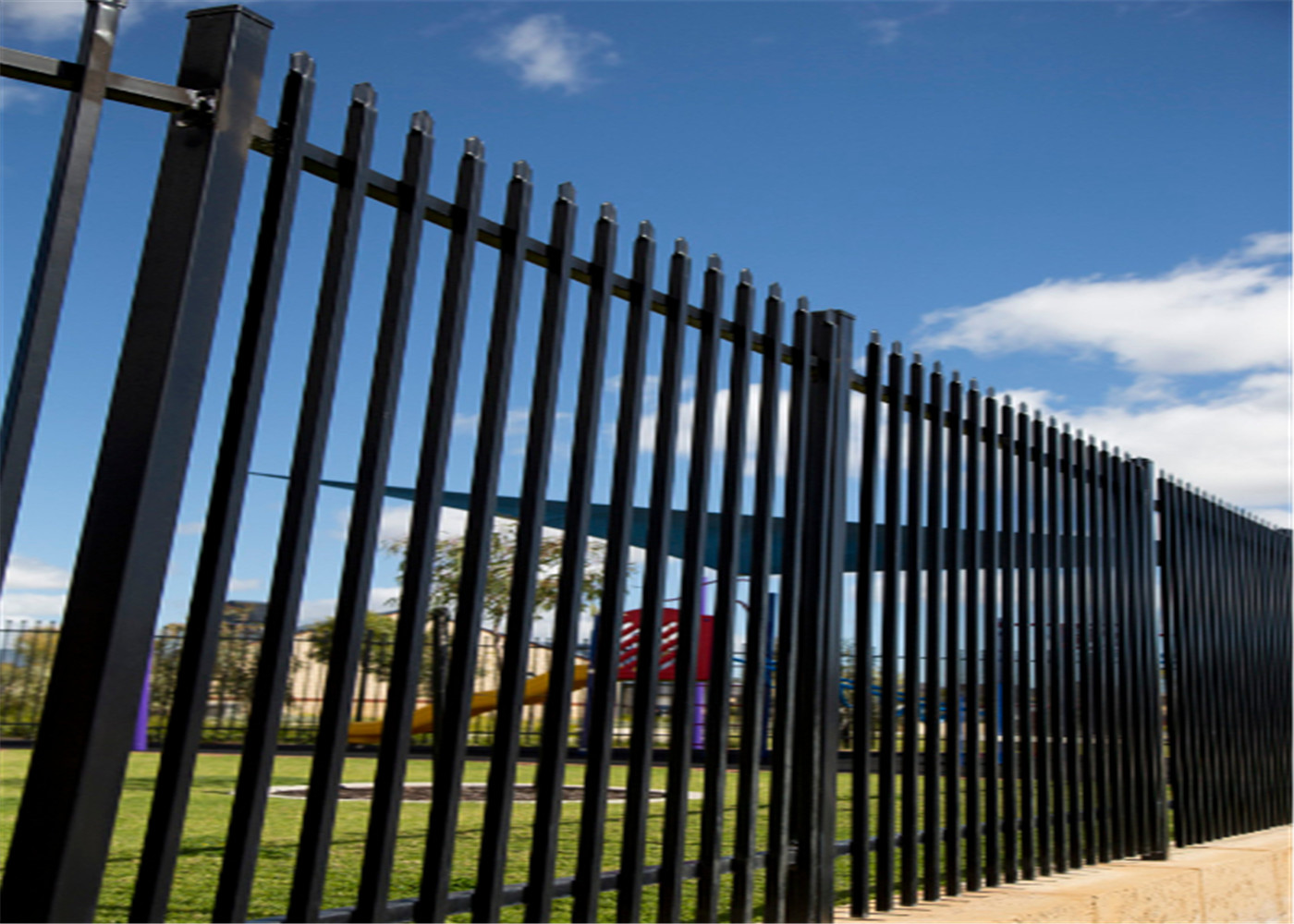 1800mm x 2400mm ,2100mm x 2400mm garrison tubular fencing ,steel high security hercules fencing