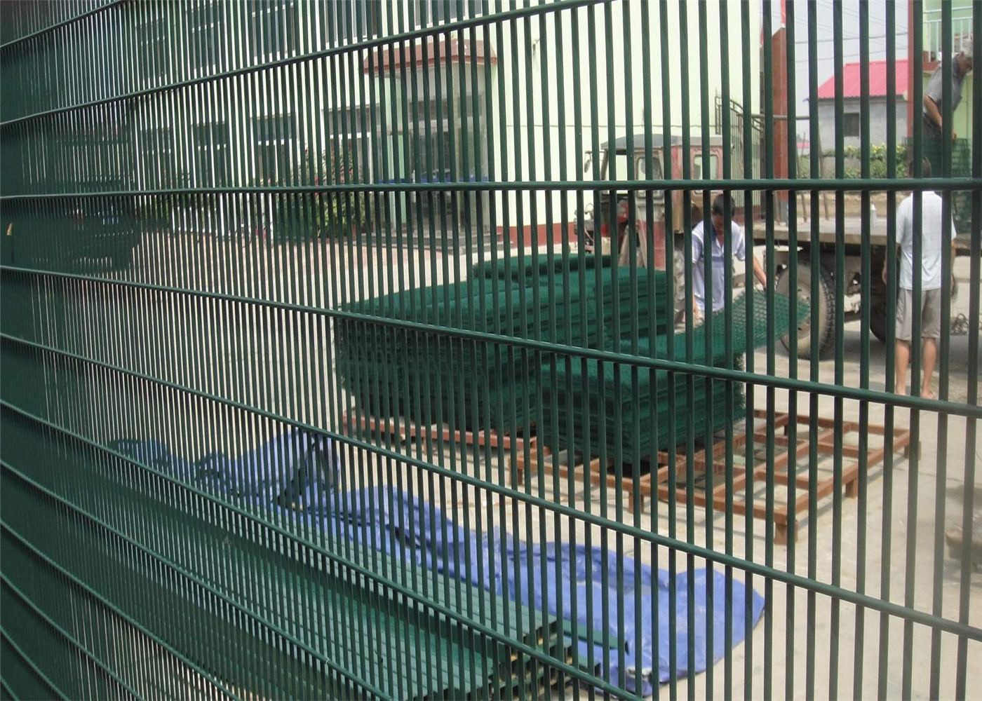 Green Color Pvc Coated Welded Wire Mesh Panels Pvc Coated