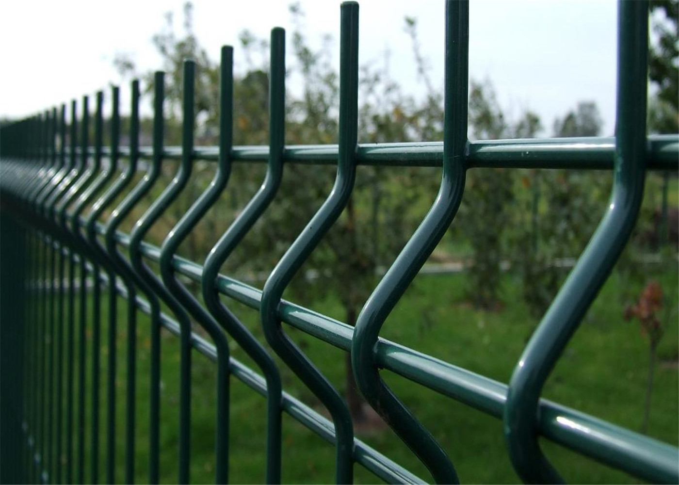 2430mm X 2500mm Nylofor 3d Wire Mesh Fence Panels
