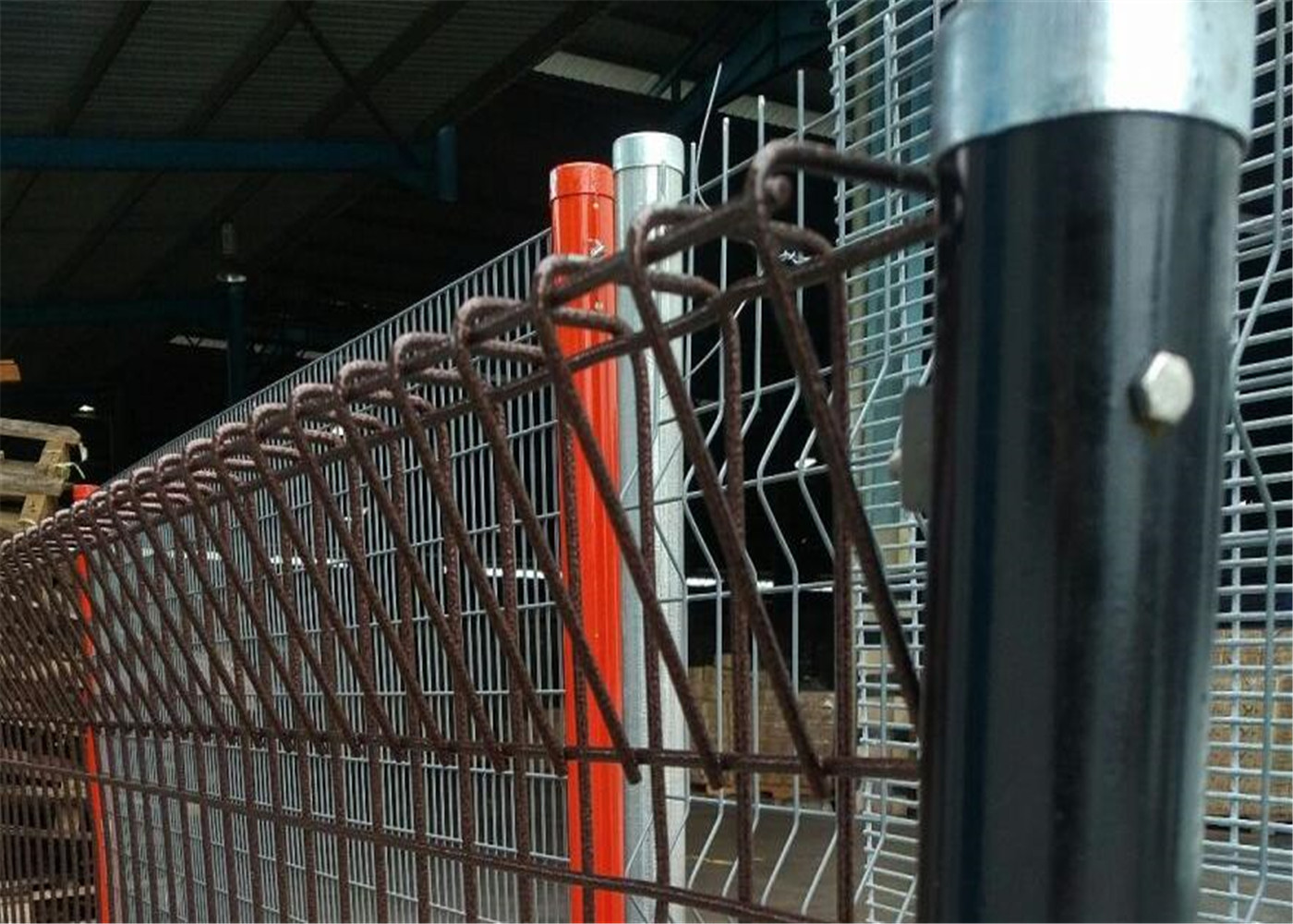 BRC Polyester Coating Roll Top fence panels top roll steel sheet